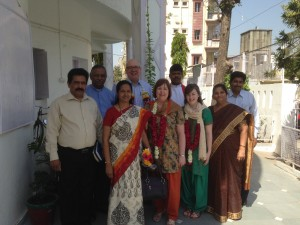 With some of the Christian leaders after morning worship in Maninagar, CNI (Church of North India)