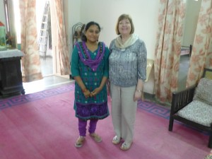 Karen with the wife of Bishop Silvans in her home