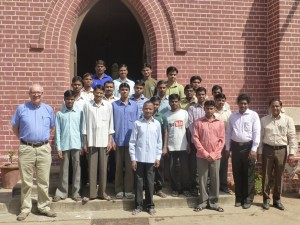 With the students of the Gujarat Theological Seminary in Ahmedabad