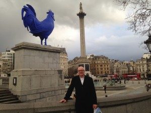 Trafalgar Square - don't know what the significance of the blue rooster