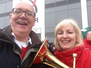 Deborah, Christian Aid, also plays with the Brass Band at Ravenhill